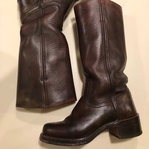 Women's campus Frye leather boots